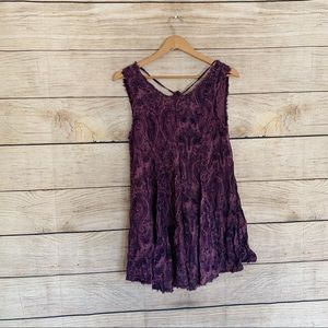 Urban Outfitters Ecote Purple Paisley Dress